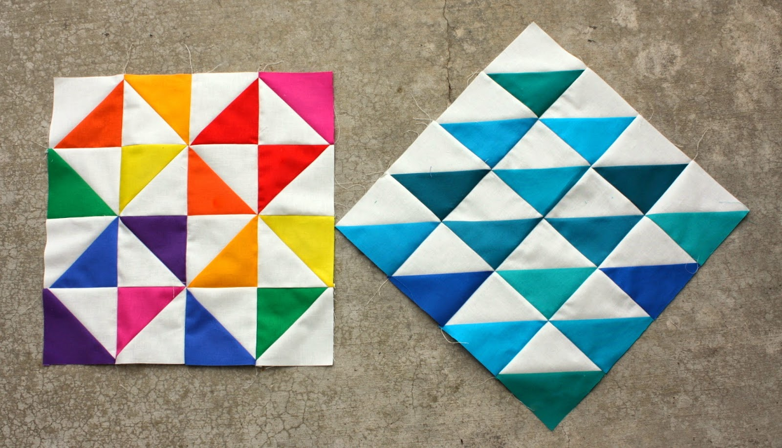 Playing with Kona Solids - Diary of a Quilter - a quilt blog
