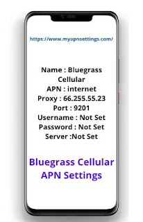 Bluegrass Cellular APN Settings for iPhone Galaxy Android Updated