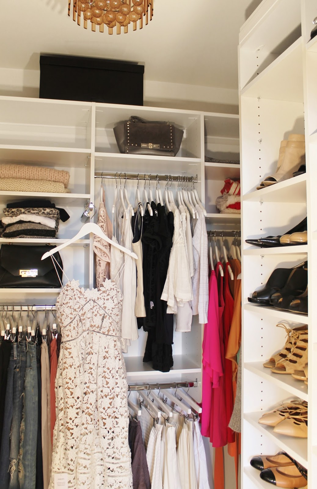 My Master Bedroom Closet Reveal With California Closets Before