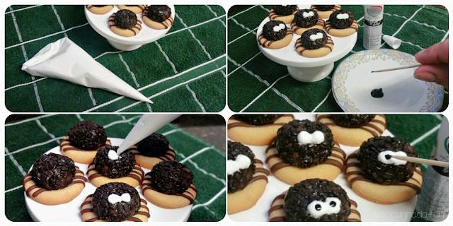 Tutorial: Biscoitinhos em formato de aranha
