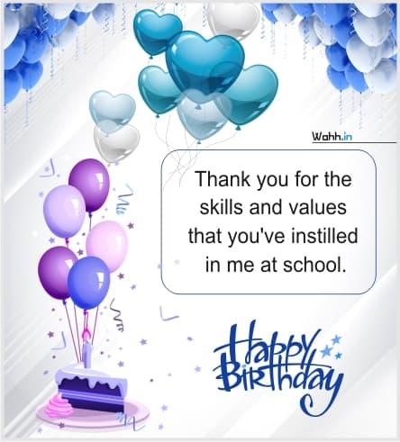 Birthday Status Teacher For Whatsapp