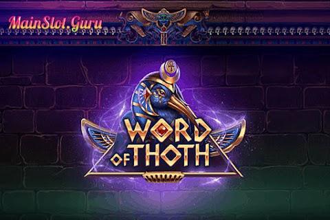 Main Gratis Slot Word Of Thoth (Yggdrasil)   96.12% RTP