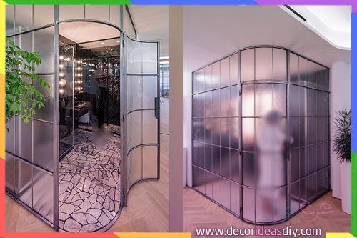 كابنات حمامات زجاجية اسبانية التصميم
