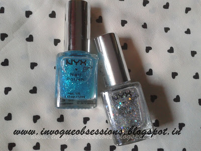 NYX Glitter Nail Polish in Spotlight and Maven in India