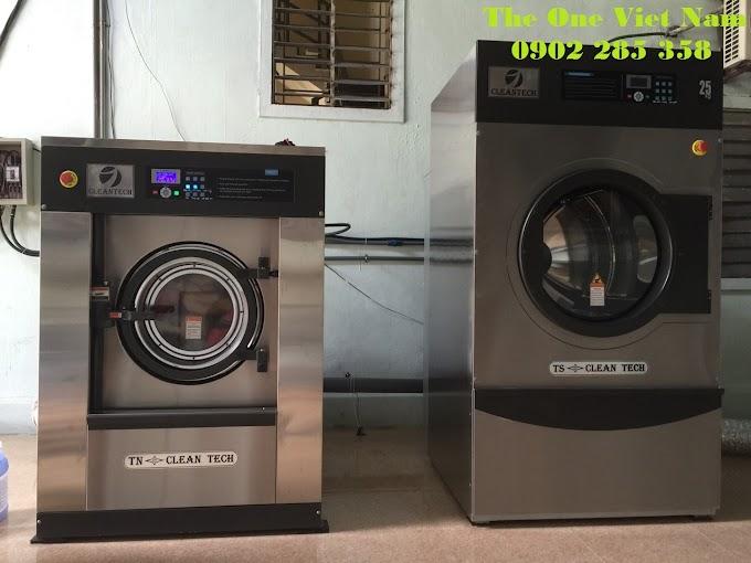 Lắp đặt máy giặt, máy sấy Cleantech cho tiệm giặt tại Lào Cai