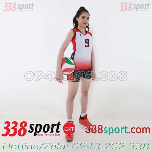 Mẫu Áo Bóng Chuyền Nữ Beyono Center Trắng Đỏ