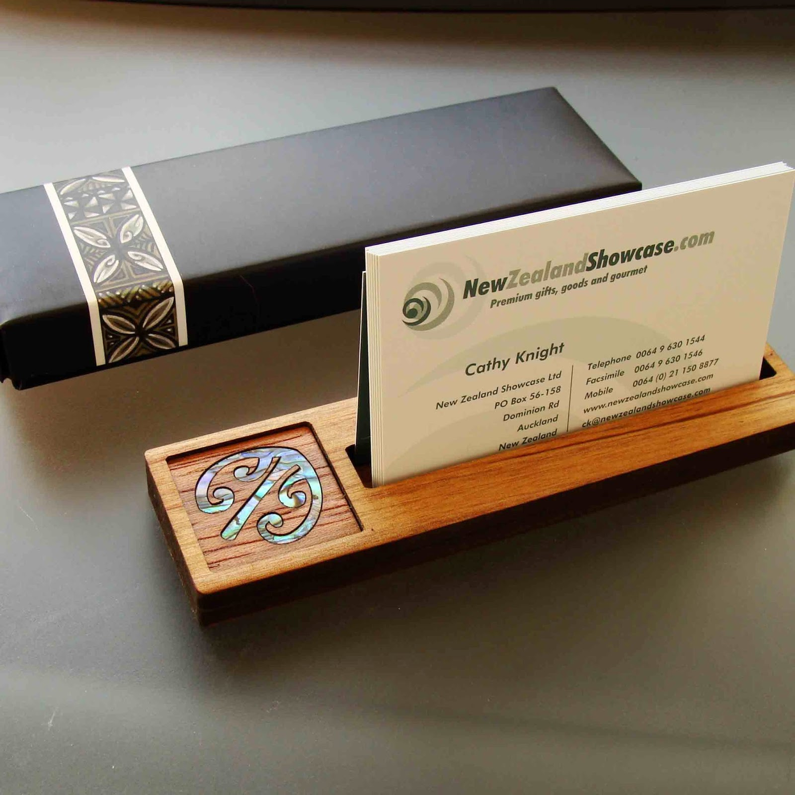 Boxed Business Card Holder