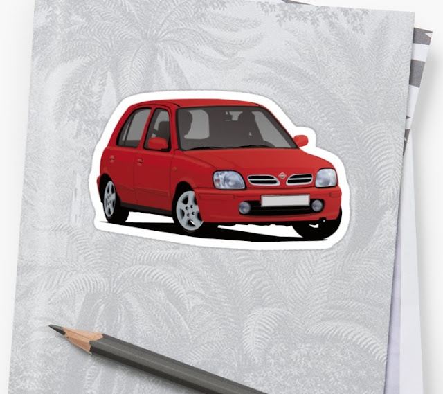 Nissan Micra / Nissan March - car sticker