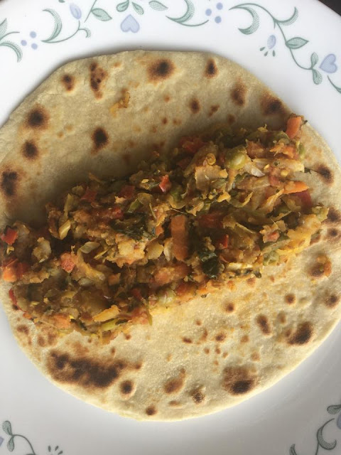 Vegetable FrankieIndian Breads, Stuffed Parathas & Wraps