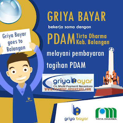 Cara Daftar Griya Bayar Loket Pembayaran PDAM Kabupaten Balangan Kalimantan Selatan