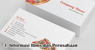 Informasi Binis dan Perusahaan adalah fungsi kartu nama yang wajib kamu ketahui