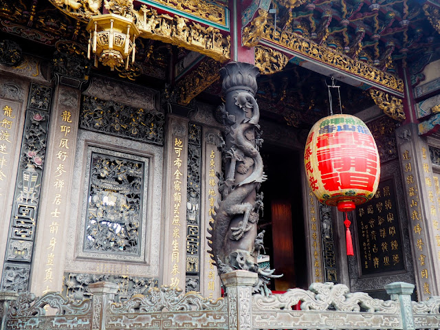 Details on Longshan Temple, Taipei, Taiwan