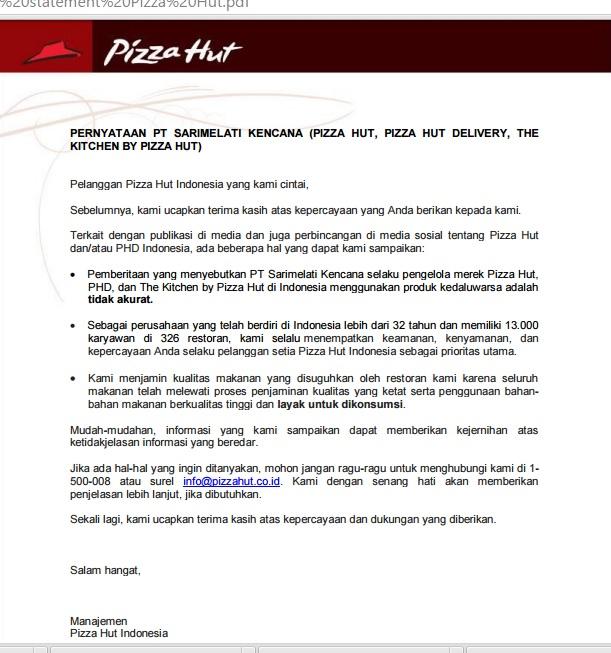 Manajemen Krisis Pada Pizza Hut & Marugame Udon - BLOG 5 PR C