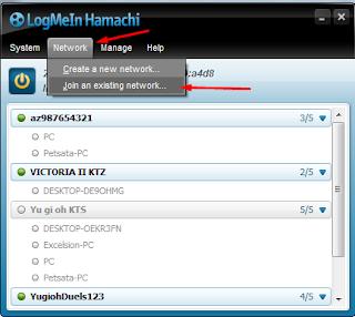 Hamachi, Network, Join an exsiting network