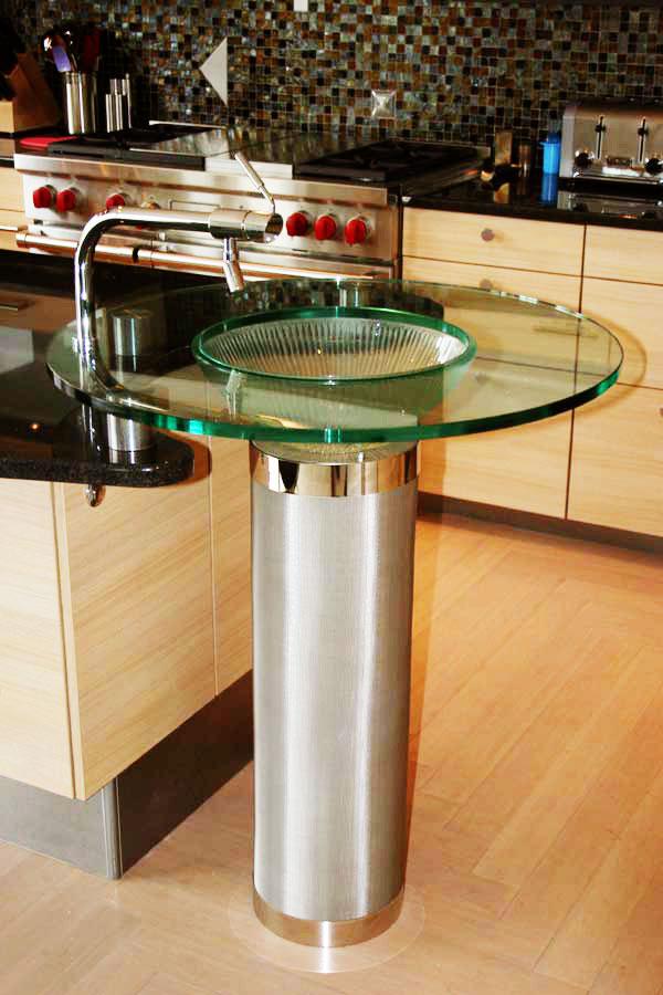 Glass Gobsmacked Glass Pedestal Sinks