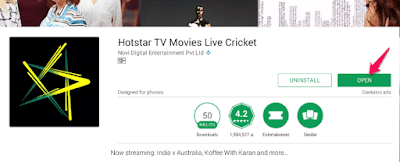 hotstar android tv install