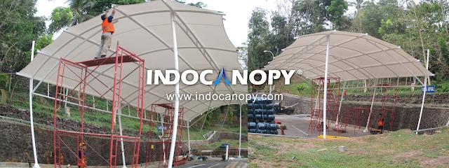 tenda canopy membrane jawa barat