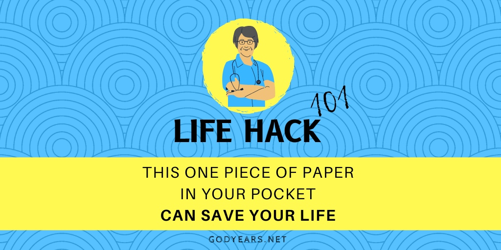 This One Piece of Paper in Your Pocket Can Save Your Life