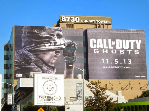 Giant Call of Duty Ghosts billboard