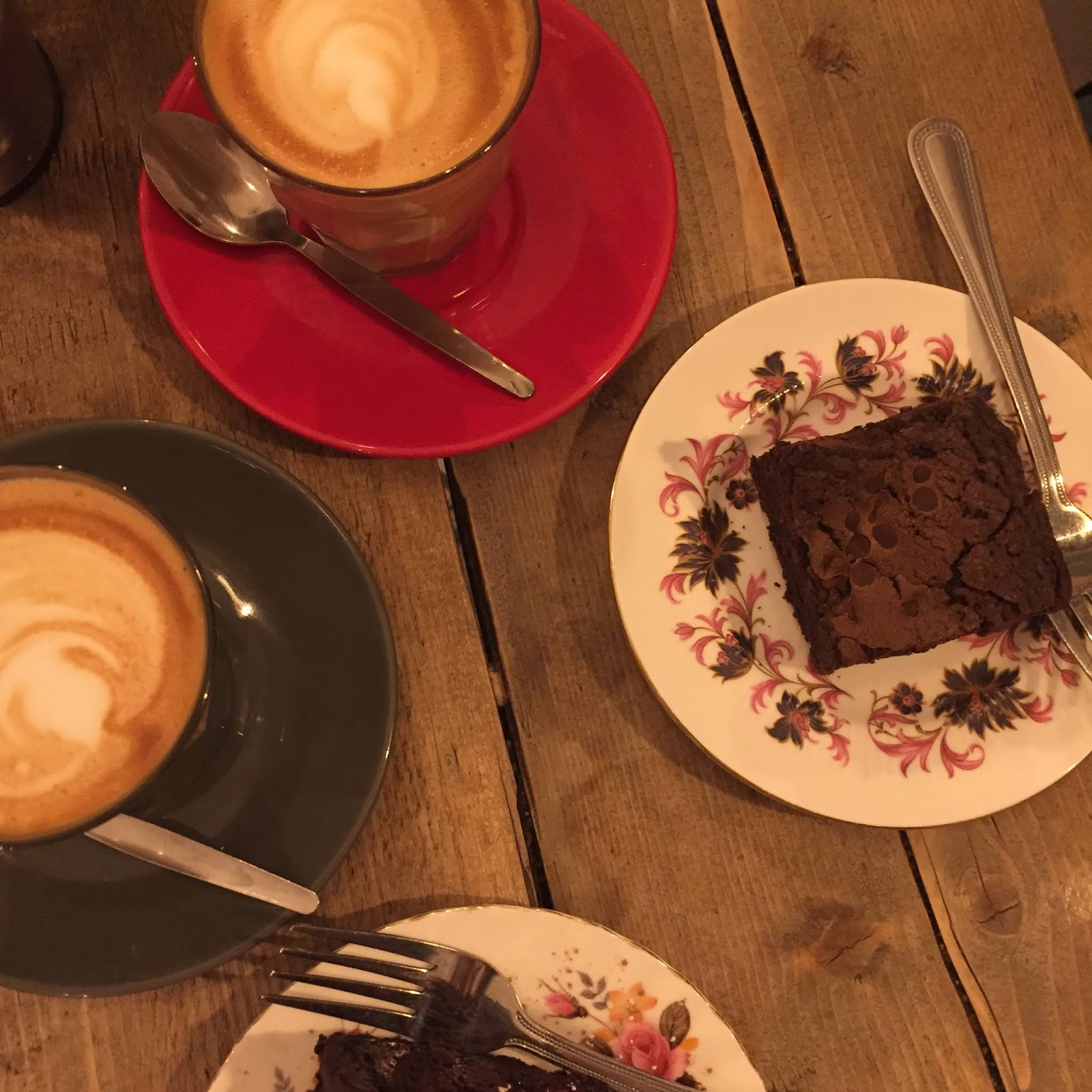 coffee and brownies at ls6 in leeds