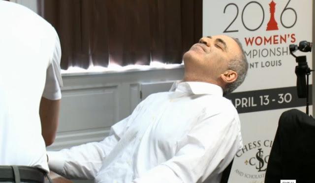 Garry Kasparov durante el torneo de blitz celebrado en San Luis