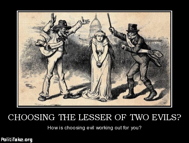 Personal sacrifice in choosing the lesser evil