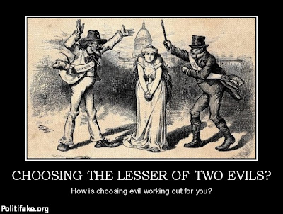 Image result for lesser of two evils fallacy