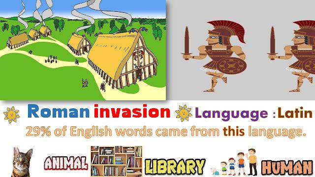 الغزو الروماني وتأثيرة علي اللغة الإنجليزية