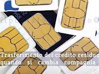 trasferimento del credito residuo quando si cambia operatore telefonico