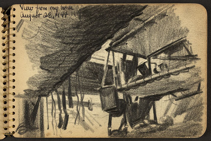 21-Year-Old WWII Soldier's Sketchbooks Show War Through The Eyes Of An Architect - View From My Bunk