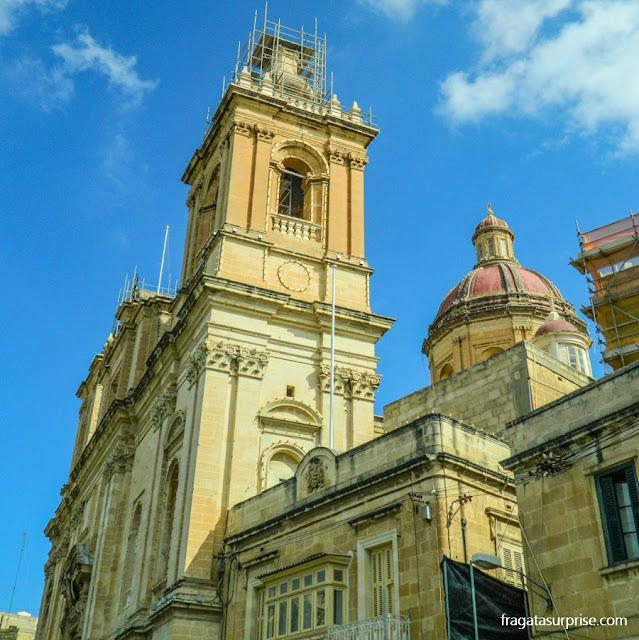 Herança dos Cruzados em Malta: a Colegiata da Imaculada Conceição, em Bormla (Cospicua)