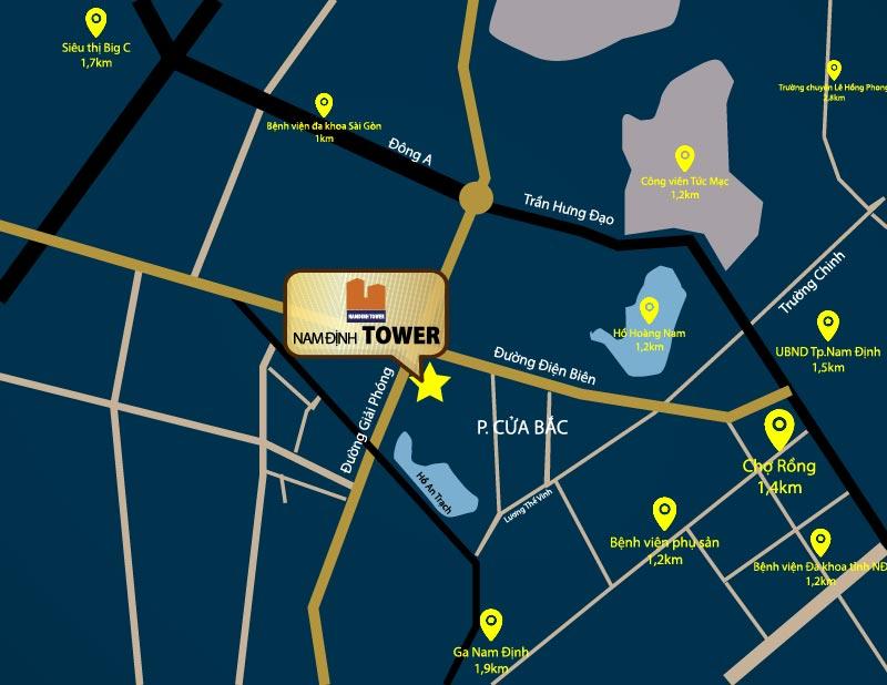 vị trí nam định tower