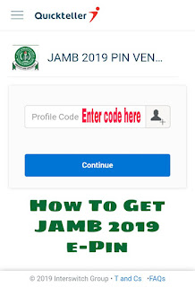 JAMB 2019 E-Pin Registration