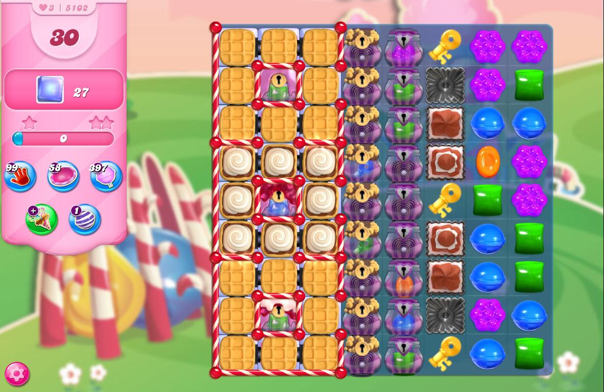 Candy Crush Saga level 5102