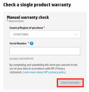 how to see any HP product Warranty
