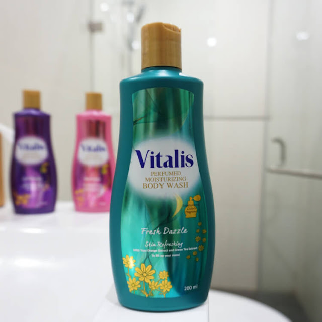 fresh dazzle vitalis body wash, mandi parfum, tips mencari ide menulis