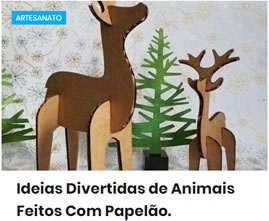 Ideias Divertidas de Animais Feitos Com Papelão