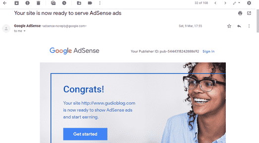 Google Adsense - Account Approved