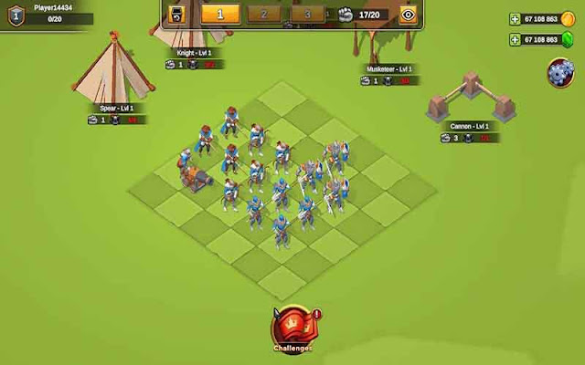 Empire Battle Simulator mod tiền (gold gems)