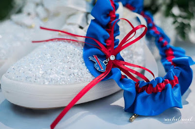 Buffalo Bills Wedding Garter by Sugarplum Garters
