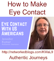 How to make eye contact with US Citizens