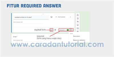Fitur required answer google form