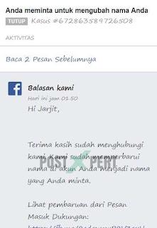 Cara ganti nama FB yang sudah tidak bisa diganti