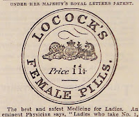 An ad for Locock's Female Pills.