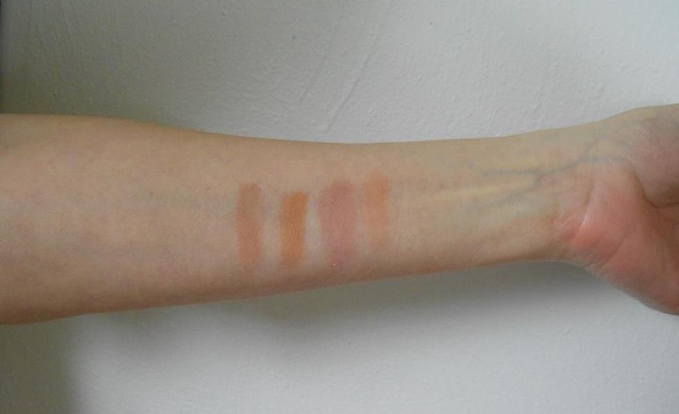 Demure Mineral Cosmetics blush swatches