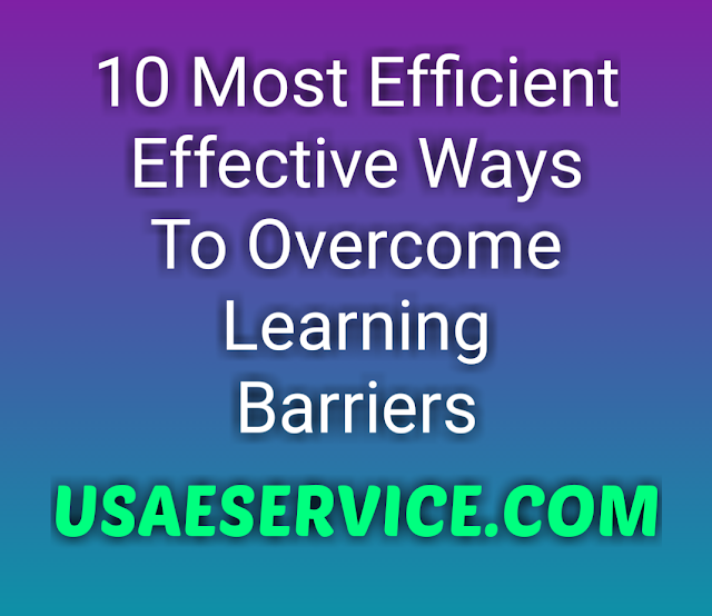 Ways To Overcome Learning Barriers