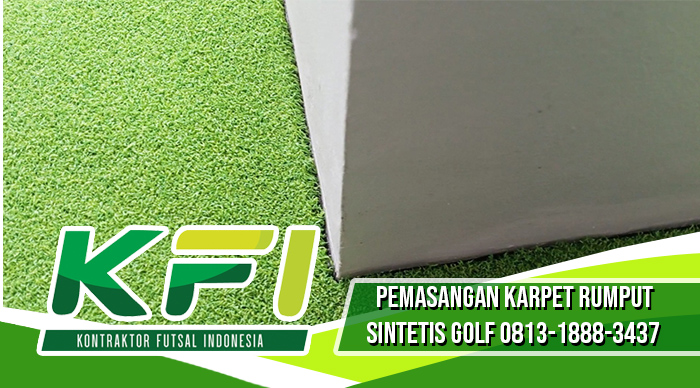pemasangan karper rumput sintetis