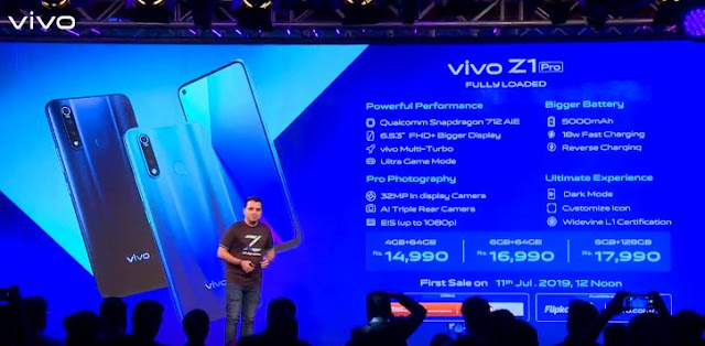 Vivo Z1 Pro with Snapdragon 712 processor, 5,000mAh battery launched in India at Rs. 14,990