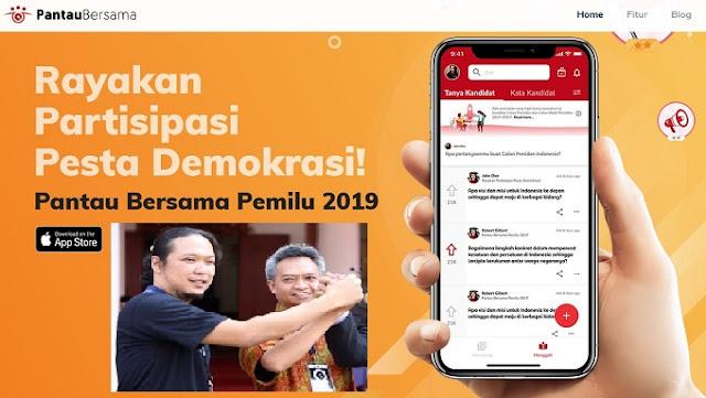 Noe Letto Luncurkan Aplikasi Pantau Bersama Pemilu 2019
