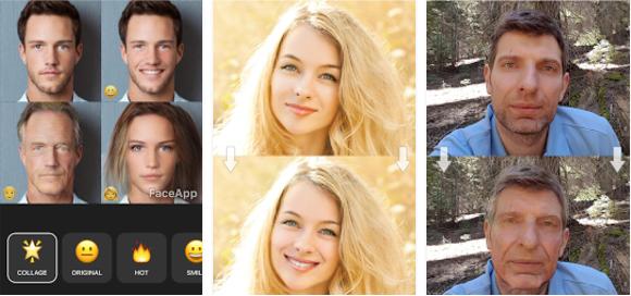 Tampilan Aplikasi FaceApp Pro